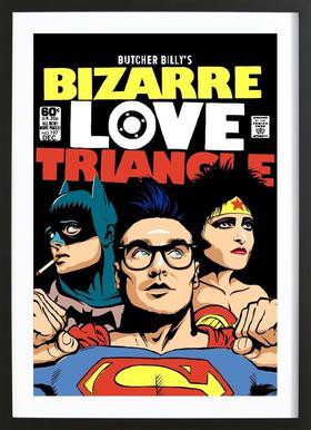 Bizarre Love Triangle Poster in houten lijst