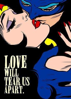 Love Vigilantes canvas doek