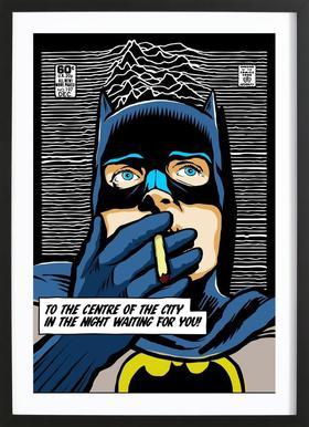 Post-Punk Comix- Bat Curtis Poster in houten lijst