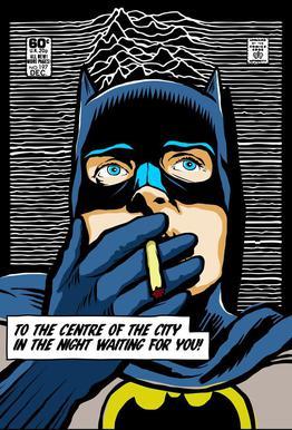 Post-Punk Comix- Bat Curtis acrylglas print