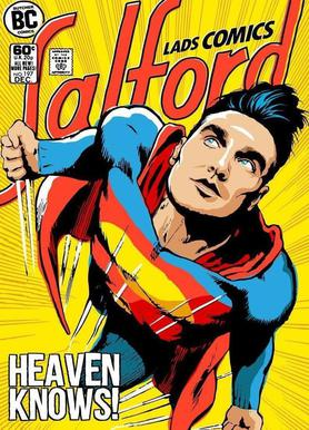 Post-Punk Comix- Super Moz - Heaven Knows Impression sur toile