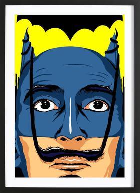 Dali Batman Poster in houten lijst
