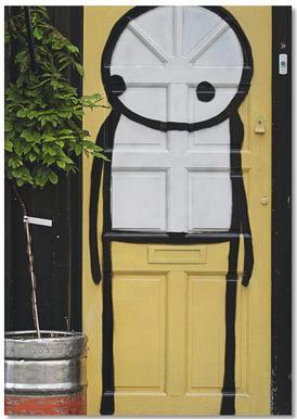 Streetart Gelb 2 Notebook