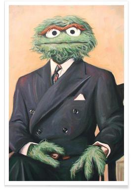 Sir Oscar Grouch Poster