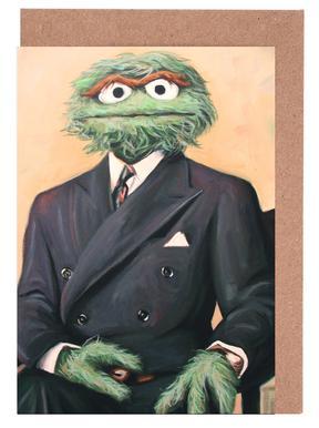 Sir Oscar Grouch cartes de vœux