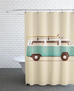 Blue Van Rideau de douche