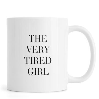 Tired Girl Tasse