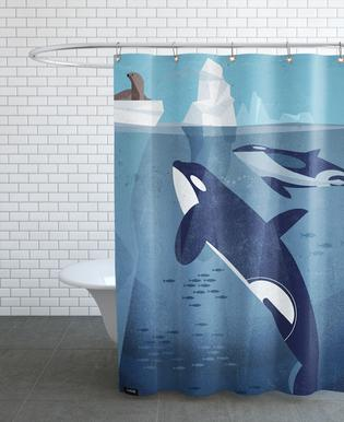 Orca As Shower Curtain By Dieter Braun