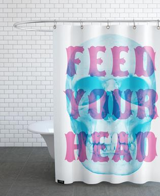 FEED YOUR HEAD Shower Curtain