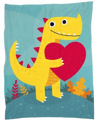 Dino Love Fleece Blanket