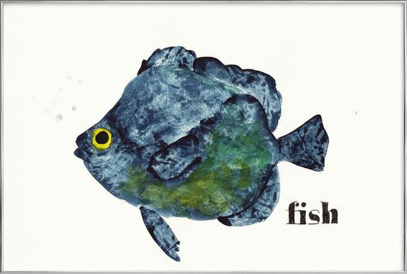 Fish Affiche sous cadre en aluminium