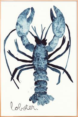 Lobster Affiche sous cadre en aluminium