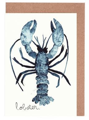 Lobster -Grußkarten-Set