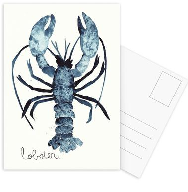 Lobster -Postkartenset