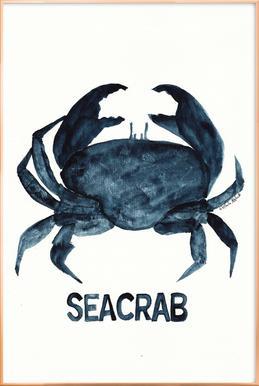Seacrab affiche sous cadre en aluminium