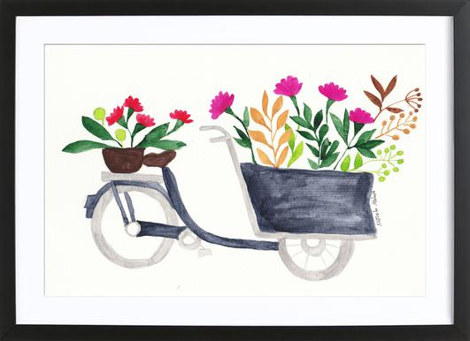 Flowers Delivery Framed Print