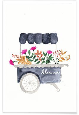 Flowers Market Poster