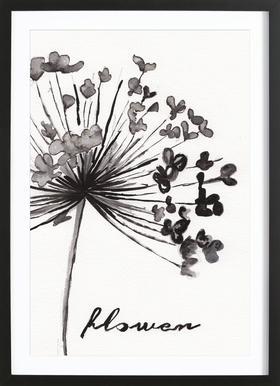 Flower affiche encadrée