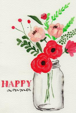 Happy Summer -Acrylglasbild