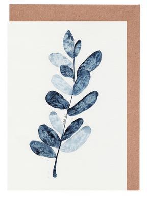 Blue Plant Greeting Card Set