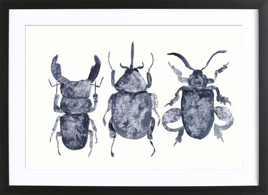 The Beetle Show Framed Print