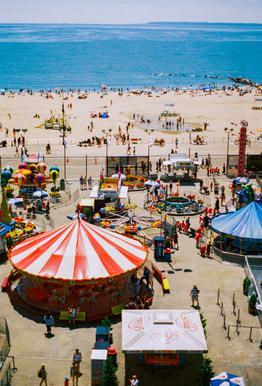 Coney Island 3 -Acrylglasbild