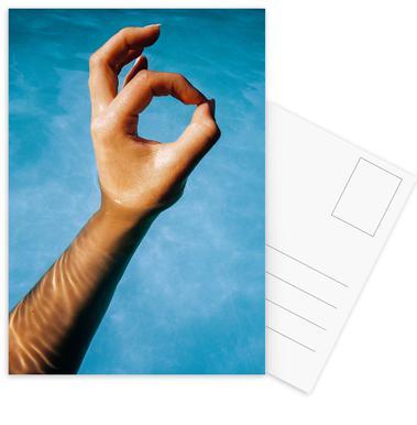 Hand ansichtkaartenset