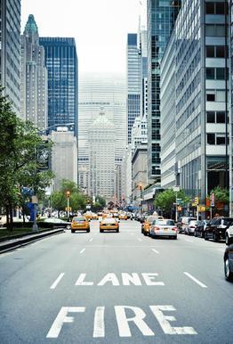 Fire Lane -Acrylglasbild