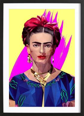 Modern Frida Poster in houten lijst