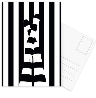 Striping legs Set de cartes postales