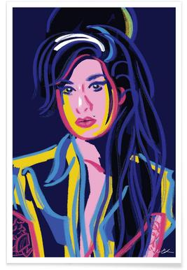 Buy Amy Winehouse Art Prints And Posters Online Juniqe Uk