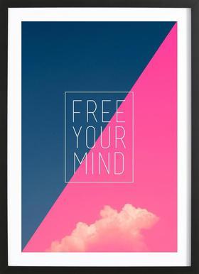 Free Your Mind III ingelijste print