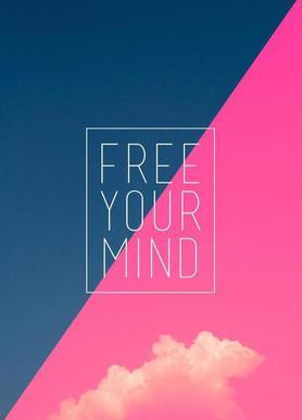 Free Your Mind III canvas doek