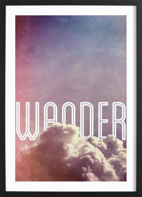 Wander Poster in houten lijst