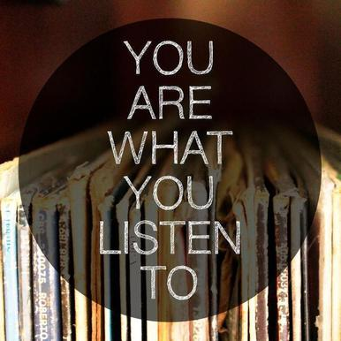 You Are What You Listen To canvas doek