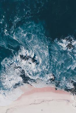 I Love The Sea tableau en verre