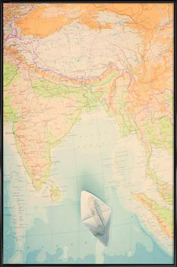 Buy framed country map posters online juniqe uk map india ingrid beddoes poster in standard frame gumiabroncs Image collections