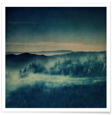 Misty Morning Blues Poster