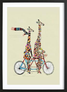 giraffes days lets tandem Framed Print