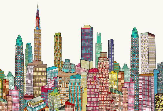 new york living -Acrylglasbild