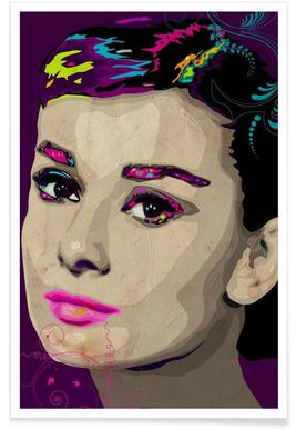 Audrey Hepburn Poster Juniqe