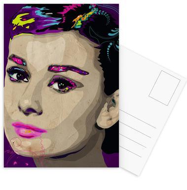 Audrey Hepburn Set de cartes postales
