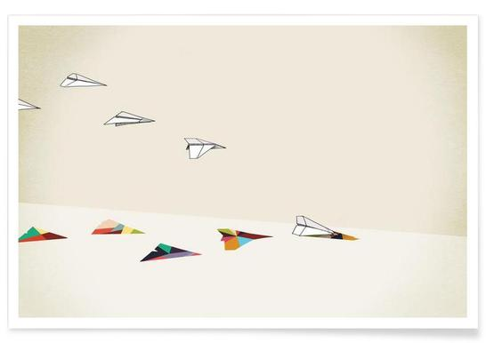 Walking Shadow - Paper Planes poster
