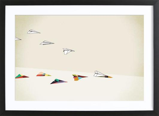 Walking Shadow - Paper Planes ingelijste print