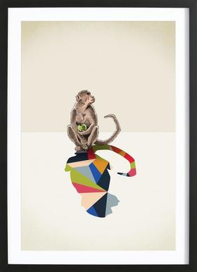Walking Shadow - Monkey Framed Print