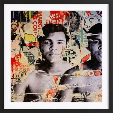 Float like a butterfly sting like a bee michiel folkers poster in wooden