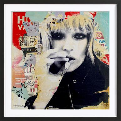 Kate is smoking no2 michiel folkers poster in wooden frame