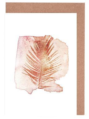 Pressed Cycas Grußkartenset