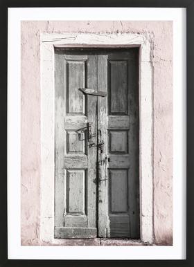 Door to Assos -Bild mit Holzrahmen