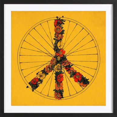 Peace & Bike ingelijste print